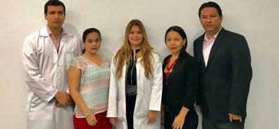 Edwin Medina, Diana Sanabria, Johana Navarro, Lency Gamba y Jaider Rodríguez.
