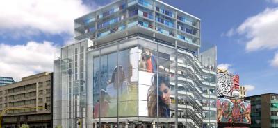 El centro comercial contará con la pantalla Led más grande de Latinoamérica, más de 500 m2 que iluminarán la avenida Jiménez en Bogotá.