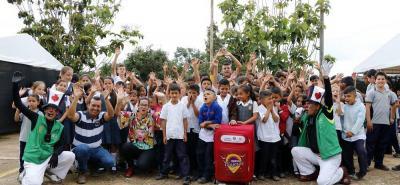 Los estudiantes de las escuelas rurales se beneficiaron del programa 'Maleta Viajera'.