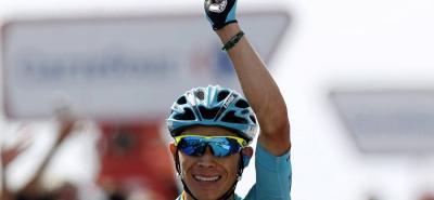 El ciclista colombiano Miguel Ángel López se ubica en la tercera casilla del Tour de los Alpes y hoy podría aspirar al título en la última etapa de la prueba.