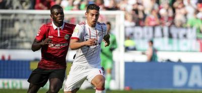 Con James en la cancha, el Bayern Munich goleó 0-3 al Hannover
