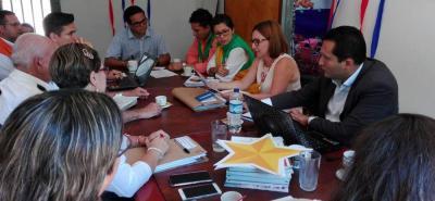 El comité de gestión del riesgo se llevó a cabo ayer en las instalaciones de la Alcaldía Municipal.