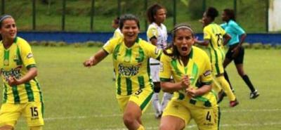 Neidis Durán anotó ayer el gol del Bucaramanga en la victoria 1-0 sobre Alianza Petrolera en la Liga Águila Femenina.