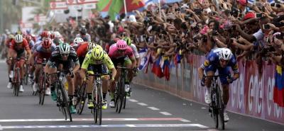 El mejor de los colombianos en el Giro es Carlos Betancur, quien está a 35 segundos del líder.