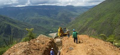 En febrero pasado se suspendieron de nuevo los trabajos del Acueducto Chicamocha, a la espera del adicional que debe aprobar el Departamento.