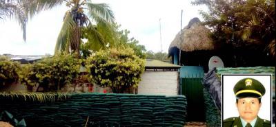 Esta es la estación del corregimiento Monterrey, en Simití, Bolívar, la cual pretendían tomarse los guerrilleros del Eln.