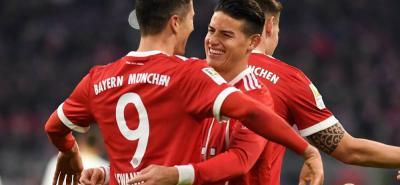 El colombiano James Rodríguez buscará un título más en su carrera deportiva, y el segundo con Bayern Múnich, con el que ya conquistó la Bundesliga.