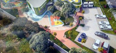 Este es un bosquejo de lo que será el Sendero Ecológico que tendrá Cañaveral para que los peatones interactúen y se apropien de espacios urbanos.