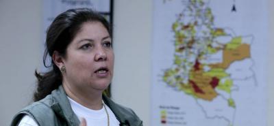 Según el anuncio hecho por la MOE (directora en la foto) son 17 los departamentos en los que la presencia de grupos armados ilegales podría afectar el voto libre.