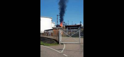 Si bien el incidente no dejó heridos ni afectó la producción, se presentó en la planta más moderna que tiene la Refinería de Barrancabermeja.