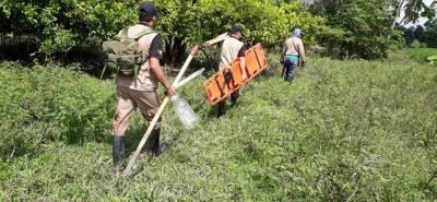 El desminado incluye fase de estudios no técnicos, la intervención con técnicas de desminado manual y la restitución de tierras.