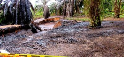 El afloramiento de crudo a 220 metros del pozo Lisama 158 en La Fortuna afectó más de 24 kilómetros y las quebradas Caño Muerto y La Lizama en La Fortuna.