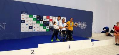 Los nadadores santandereanos Carlos Serrano y Nelson Crispín lograron plata y bronce, respectivamente, en la Serie Mundial de Natación Paralímpica de Berlín, Alemania.