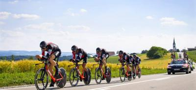 El BMC se impuso en la contrarreloj por equipos con la que se dio inicio ayer a la Vuelta a Suiza, en la que están los colombianos Nairo Quintana, Fernando Gaviria y Sebastián Henao.