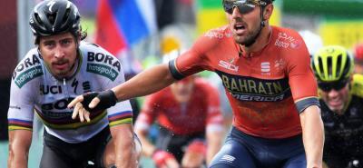El italiano Sonny Colbrelli se impuso ayer en la tercera etapa de la Vuelta a Suiza sobre Fernando Gaviria y Peter Sagan.