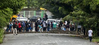 """Una veintena de sectores """"autoconvocados"""" de la ciudad colonial de León, Nicaragua, llamaron ayer a un paro general de 24 horas, en protesta contra el Gobierno."""