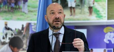 Alberto Brunori, representante en Colombia del Alto Comisionado de la ONU para los Derechos Humanos.