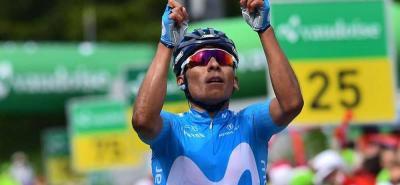 Nairo Quintana ganó la séptima etapa de la Vuelta a Suiza
