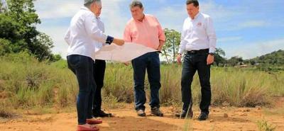 El pasado jueves se realizó un recorrido en el terreno donde se construirá el centro asistencial.