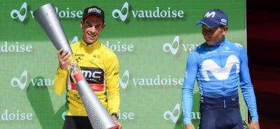 Colombiano Nairo Quintana, tercero en la Vuelta a Suiza