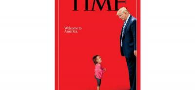 Esta portada refleja la situación que están viviendo los niños inmigrantes en la frontera.