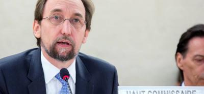 El alto comisionado de Naciones Unidas para los Derechos Humanos, Zeid Ra'ad al Hussein.