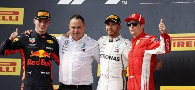 El podio final del Gran Premio de Francia dejó como ganador al británico Lewis Hamilton, seguido por el holandés Max Verstapppen y el finlandés Kimi Räikkönen.