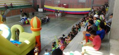 Con diferentes actividades lúdicas y recreativas, niños y jóvenes se vincularon a la campaña preventiva.
