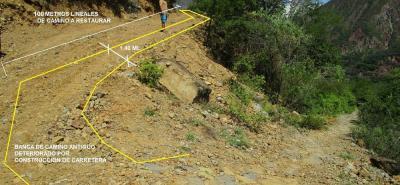 Con esta fotografía, la Asociación de Caminantes del Gran Santander ilustra el deterioro y el daño que ha sufrido el Camino Real en jurisdicción de Jordán.