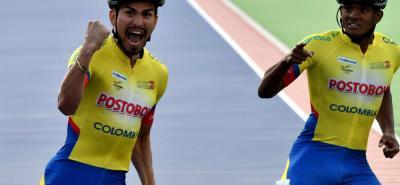 Pedro Causil y Edwin Estrada hicieron el 1 y 2, de Colombia en la prueba de los 500 metros varones mayores en el Mundial de Patinaje de Carreras, que se disputa en Holanda.