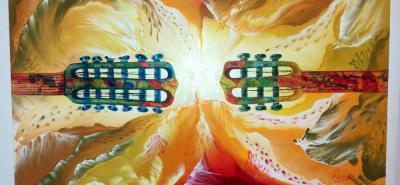 """Esta es la obra de Jonathan Salazar. Según él muestra """"la relación que tiene la música con la naturaleza""""."""