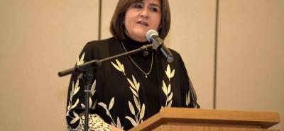 María Lorena Gutiérrez, ministra de Comercio.