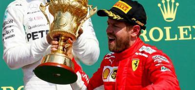 Vettel logró en Silverstone su victoria número 51 en Fórmuna 1
