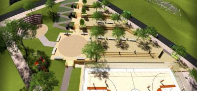 El escenario contará con teatrino, juegos infantiles, gimnasio biosaludable, zonas verdes, cancha múltiple y plazoletas.