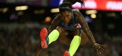 La atleta colombiana Caterine Ibargüen se impuso ayer en la prueba de salto triple de la reunión de la Liga de Diamante que se disputó en Rabat, Marruecos, logrando un mejor salto de 14,96 metros, que es la mejor marca del año en el mundo.