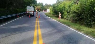 El accidente en el que perdió la vida Carlos Andrés Uribe ocurrió en el kilómetro 57 de la vía La Fortuna - Lebrija.