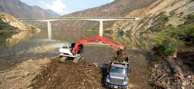 Así va la recogida de la empalizada del río Sogamoso