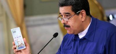 Maduro anunció que le quitará cinco ceros al bolívar venezolano