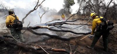 """El Servicio Meteorológico Nacional de Estados Unidos señaló que el """"calor excesivo actual, la presencia de ramas y hierba seca, está causando numerosos incendios que presentan un explosivo crecimiento de fuego""""."""