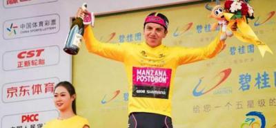El colombiano Hernán Aguirre gana la Vuelta ciclista del Lago de Qinghai