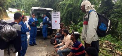 La Cruz Roja reitera que estas atenciones se brindan gracias a donaciones internacionales, por lo cual, las ayudas están destinadas exclusivamente a migrantes venezolanos.