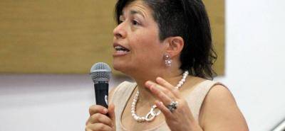 Carolina Botero Cabrera, durante su visita en la UNAB.