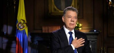 """""""La Paz queda en sus manos, queridos colombianos"""": Juan Manuel Santos"""