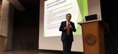 Germán Bulla, presidente del Consejo de Estado estuvo en Bucaramanga liderando la rendición de cuentas de la corporación en las diferentes regiones del país.
