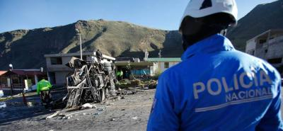 Hallaron media tonelada de drogas en el bus accidentado en Ecuador