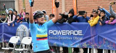 Este año la santandereana Ana Cristina Sanabria ganó la medalla de oro en la CRI y en la ruta de los Juegos Suramericanos.