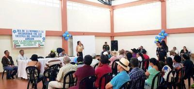 El vivero de la asociación de Víctimas Asofacpaz, de San Joaquín, está ubicado en la finca La Meseta del tejar, de la vereda Santa Bárbara.