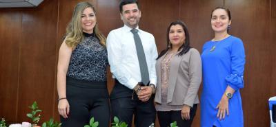 Lida Arias, Luis Carlos Acevedo, María Margarita Vargas y María Fernanda Ramírez.