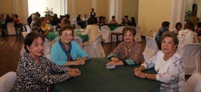 Eugenia Prada, Yolanda Hasbón, Nidia Infante y Teresa Castillo.