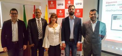 Edwin Muñoz, Luis Baquero, Gladys Mireya Valero Córdoba, Gábor Réthi y Julio Ramírez.